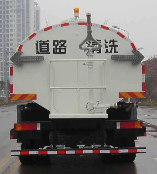 东风天龙后双桥14.24吨国五洒水车后面图