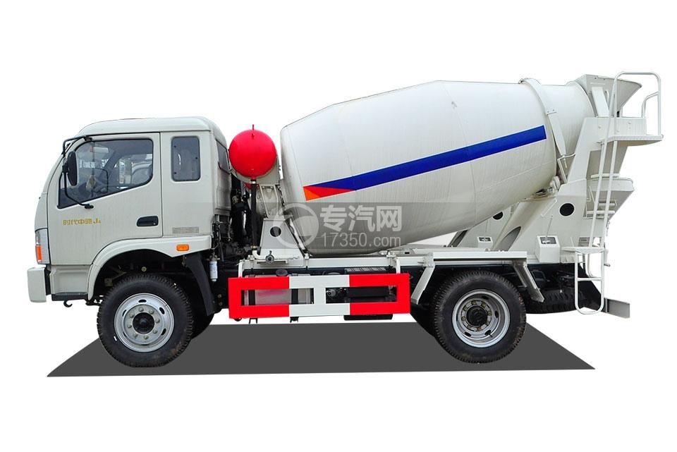 福田时代中驰J4国五4方混凝土搅拌车侧面图