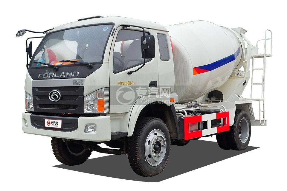 福田时代中驰J4国五4方混凝土搅拌车