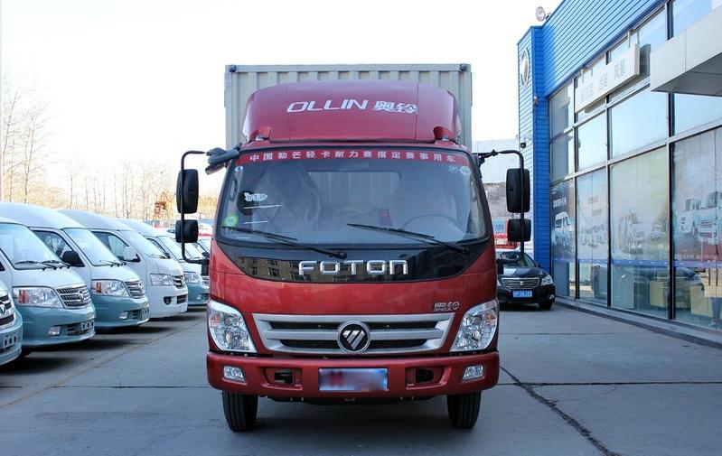 福田奥铃TX110马力4.165米单排厢式运输车