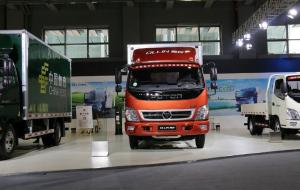 福田奧鈴TX103馬力3.655米單排廂式運輸車