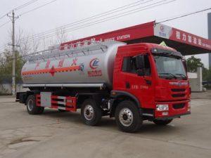 解放龙V小三轴18.9方易燃液体罐式运输车