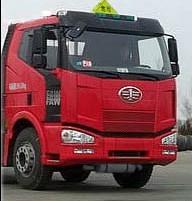 解放J6小三轴19方铝合金易燃液体罐式运输车前脸图