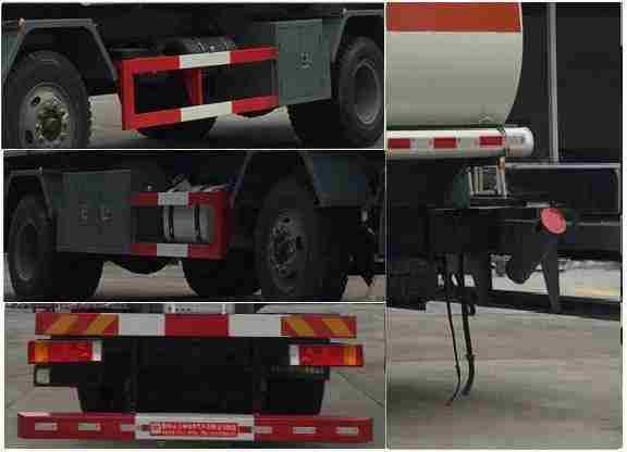 解放J6小三轴19方铝合金易燃液体罐式运输车细节图