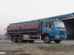解放龍V后雙橋18.3方易燃液體罐式運輸車