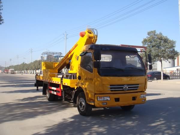 东风多利卡单排12-14米伸缩臂式国五高空作业车