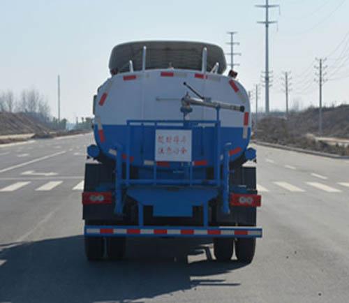 福田欧马可7.35吨国五洒水车后面图