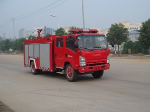 慶鈴五十鈴4x2國五水罐消防車