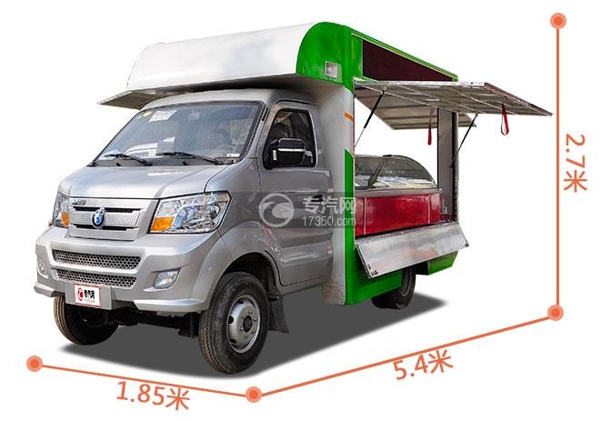 重汽王牌W1柴油流動售貨車尺寸大圖