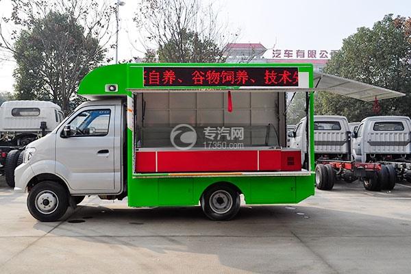 重汽王牌W1柴油流動售貨車左側