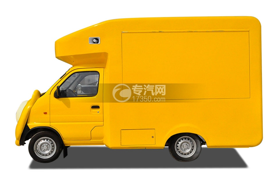 金杯小金牛国五卡通流动售货车(黄)左侧