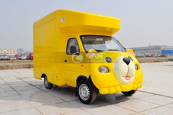金杯小金牛国五卡通流动售货车(黄)右前面