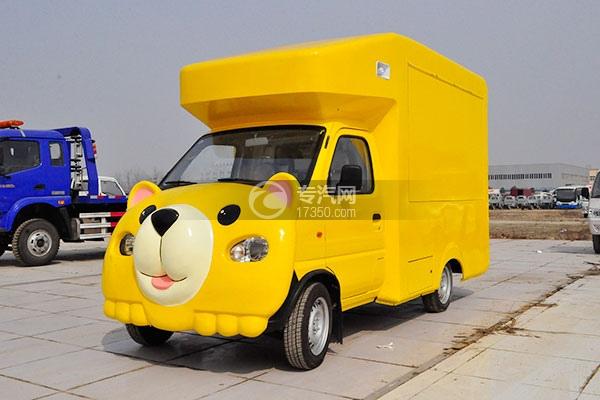 金杯小金牛国五卡通流动售货车(黄)左前面