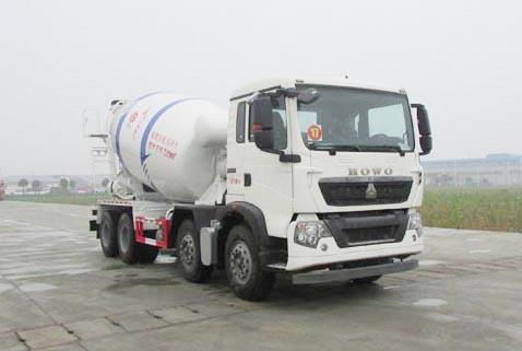 重汽豪沃T5G前四后八国五7.99方混凝土搅拌运输车