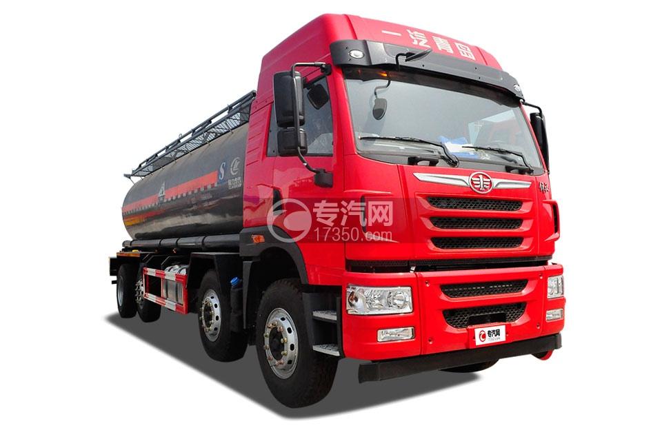 解放悍V前四后八国五18.1方化工液体运输车