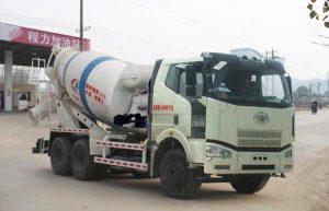 解放J6M后双桥国五4.4方混凝土搅拌运输车