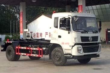 东风特商勾臂式垃圾车