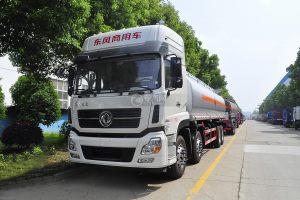 東風天龍前四后八27.6方運油車(象牙白)圖片