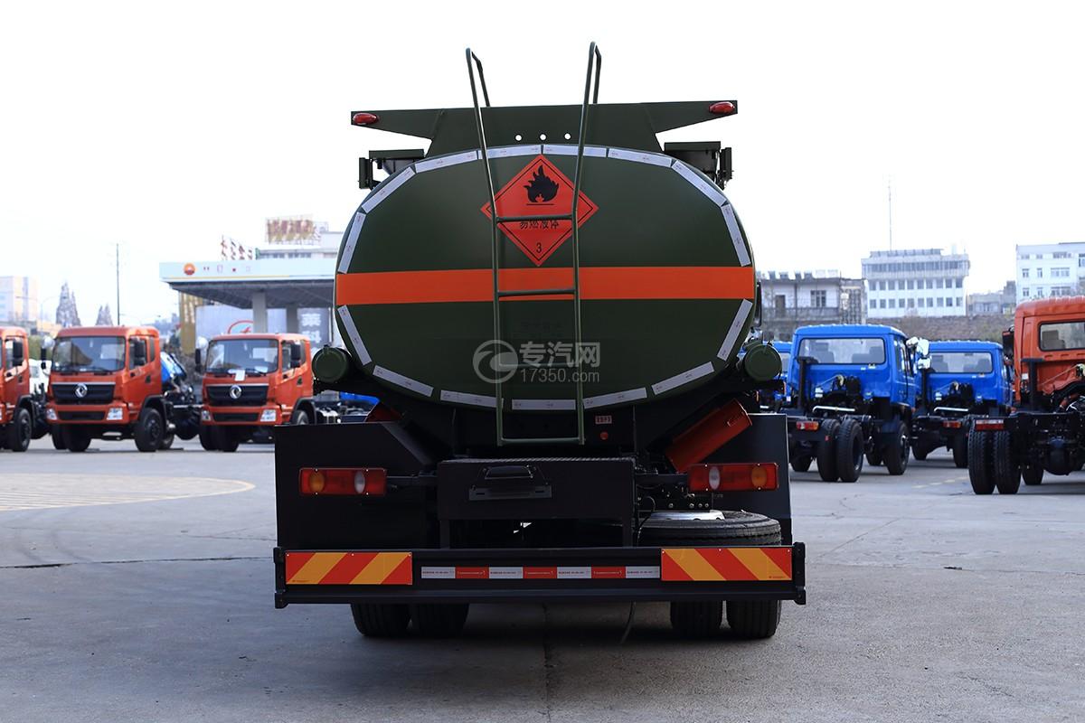 东风天锦单桥军用加油车后面图