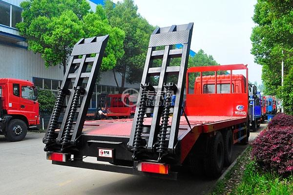东风神宇御虎VP后双桥平板运输车右后图