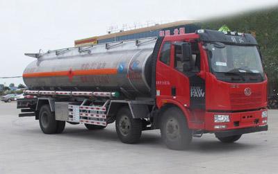 解放J6L小三轴国五19.6方铝合金运油车