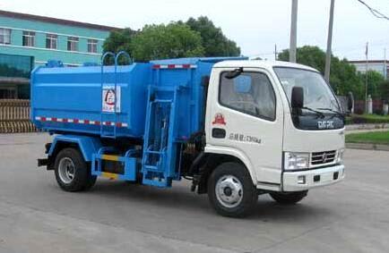 东风锐铃国五挂桶式垃圾车