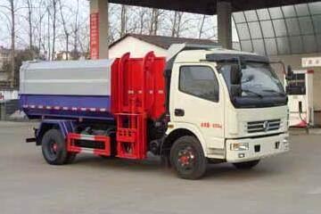 东风多利卡国五挂桶式垃圾车