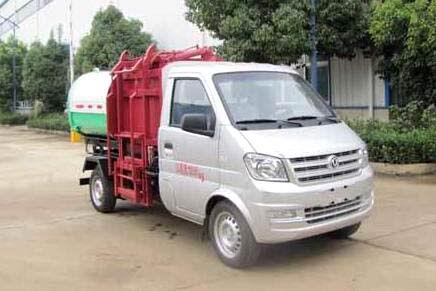 东风俊风国五挂桶式垃圾车