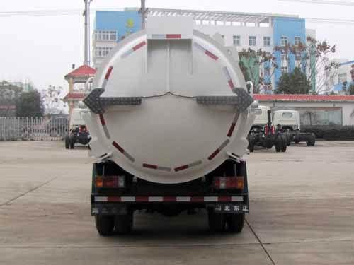 庆铃五十铃600P餐厨垃圾车后面图