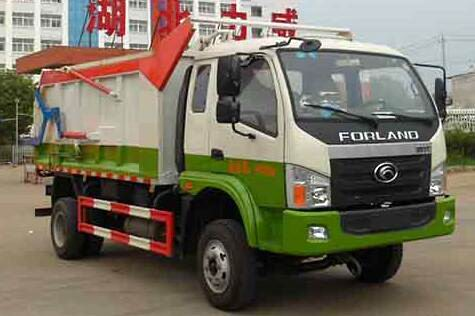 福田时代中驰压缩式对接垃圾车