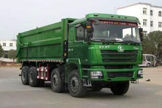陕汽德龙F3000前四后八压缩式对接垃圾车