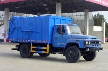 东风140压缩式对接垃圾车