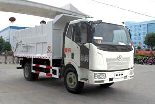 解放J6单桥自卸式垃圾车