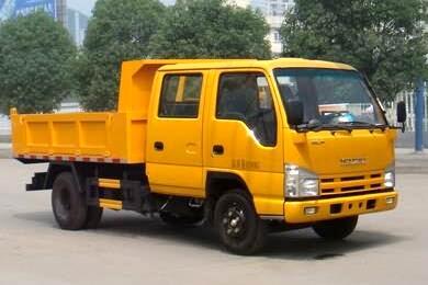 庆铃五十铃100P双排座自卸式垃圾车