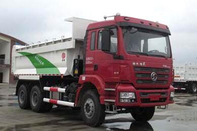 陕汽德龙新M3000后双桥自卸式垃圾车