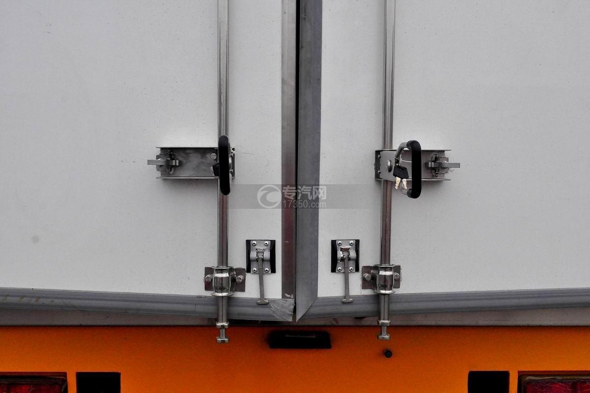 大运奥普力单排冷藏车后开门