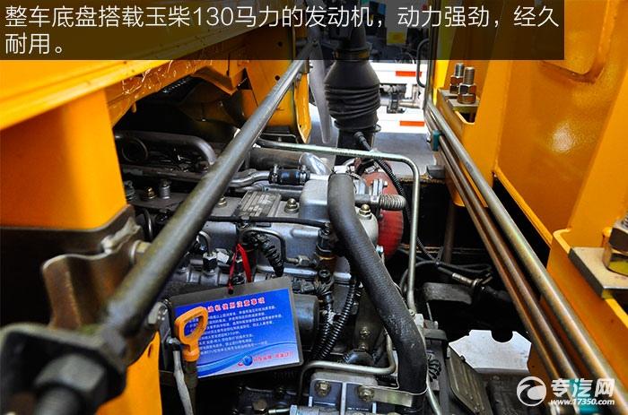 东风福瑞卡3吨徐工直臂随车吊底盘玉柴130马力发动机