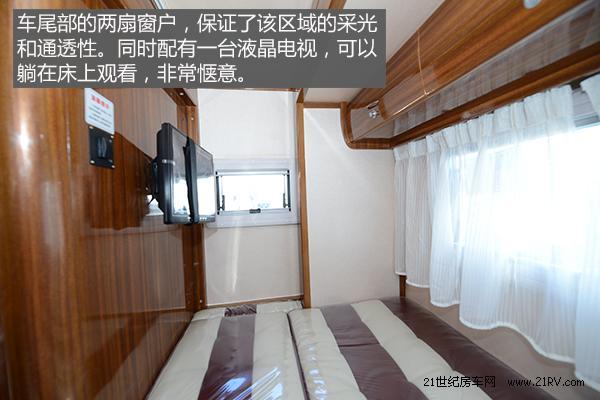 中意依维柯NEW DAILY房车双人床的空间与电视