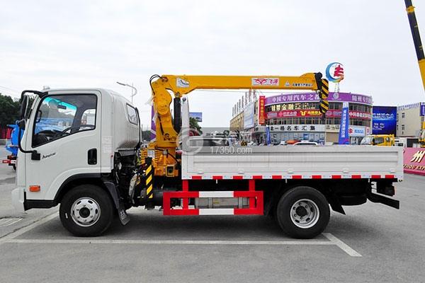 大運奧普力國五2噸直臂隨車吊正面圖