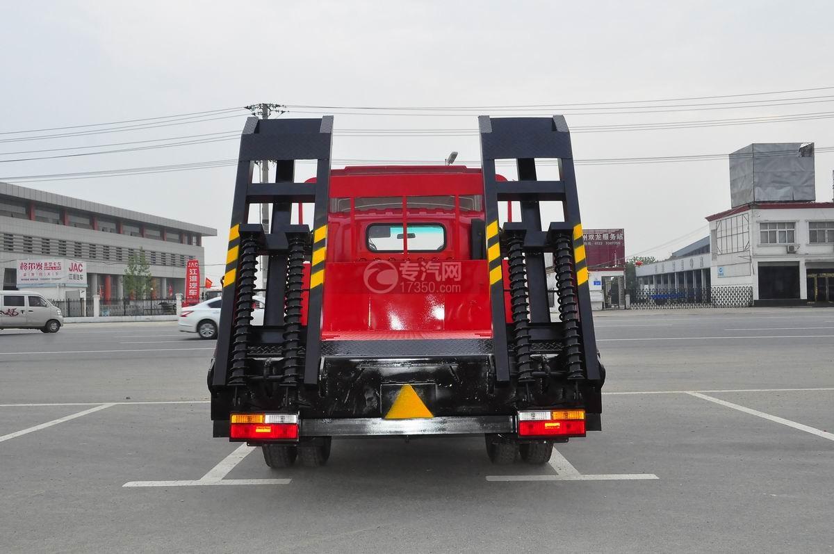 大运奥普力平板运输车后面图