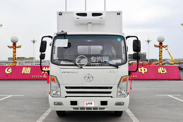 大運奧普力排半寬體3.75米冷藏車正面圖