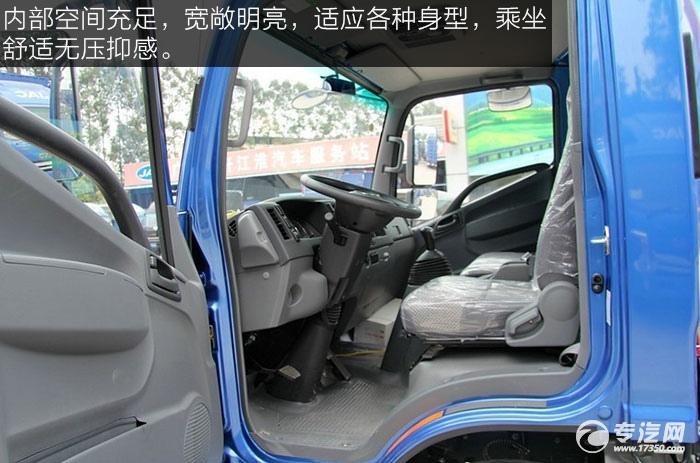 江淮帅铃H380 160马力单排中卡驾驶室空间