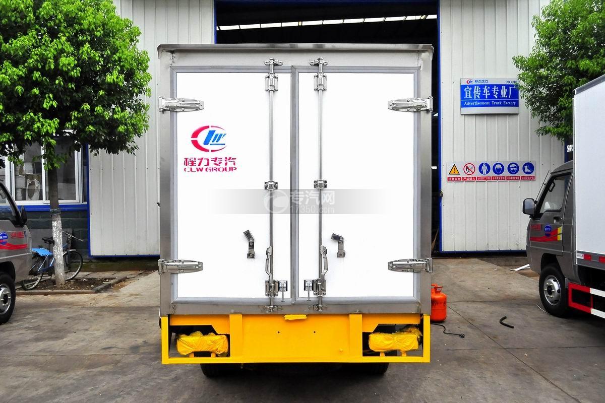 东风小霸王V冷藏车(医疗物品运输车)后面图