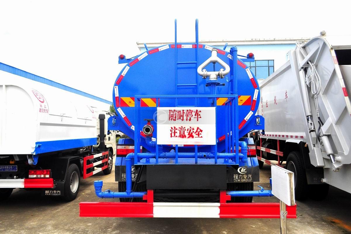 东风专用底盘国五12吨洒水车后面图