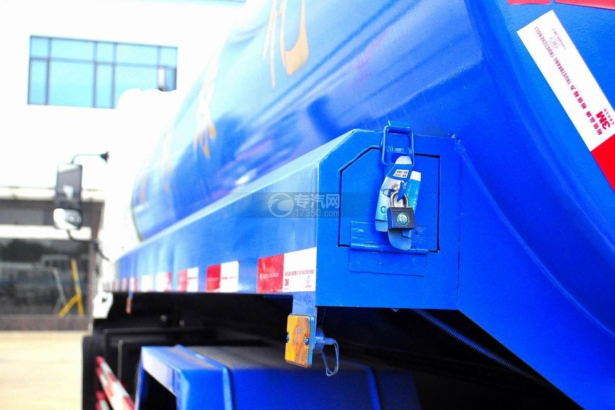 东风专用底盘国五12吨洒水车水管槽