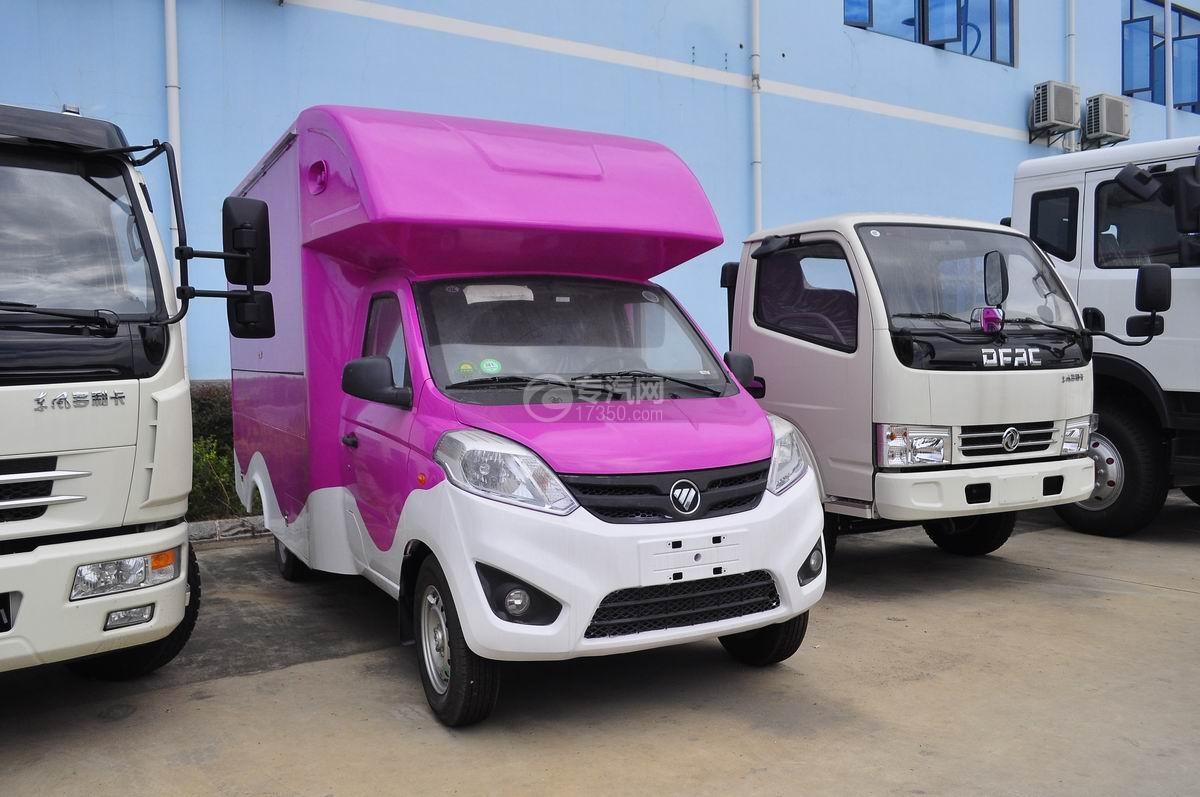 福田伽途T3国五售货车(玫红白款)图片