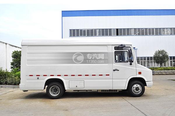 东风轻量化面包式冷藏车右侧图