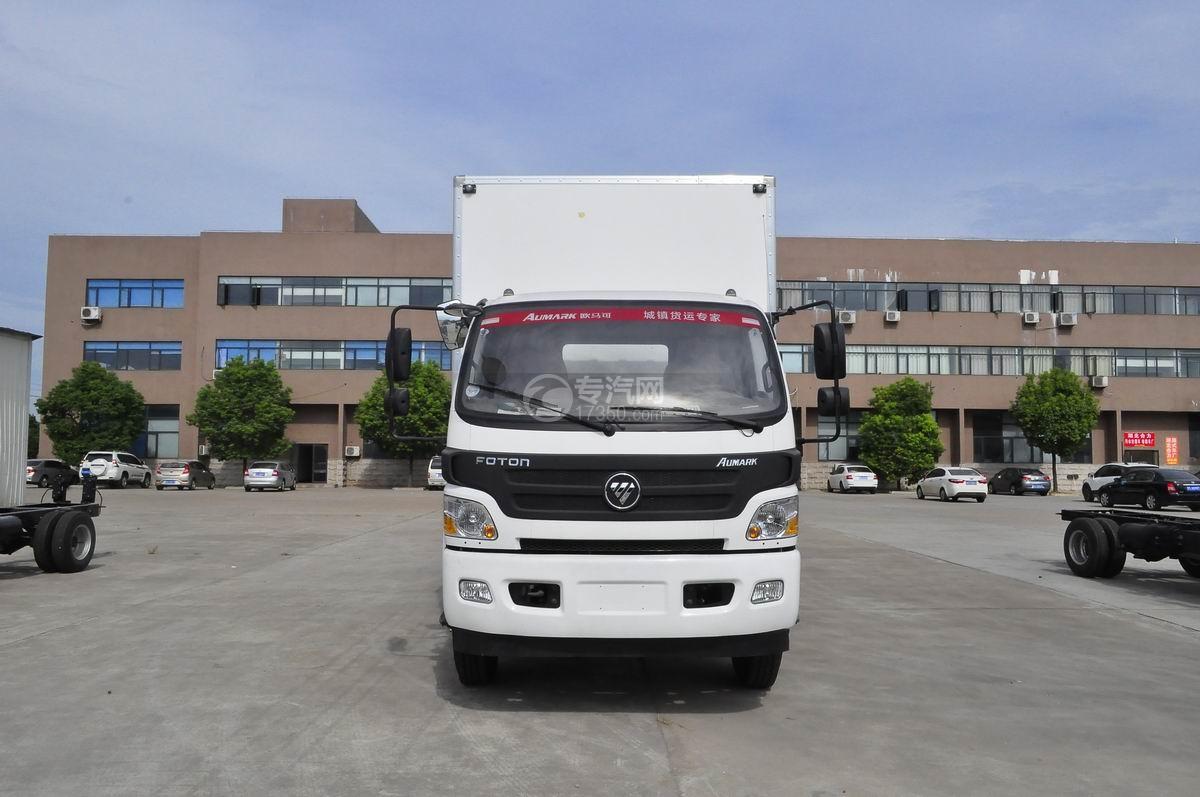 福田欧马可厢式运输车前面