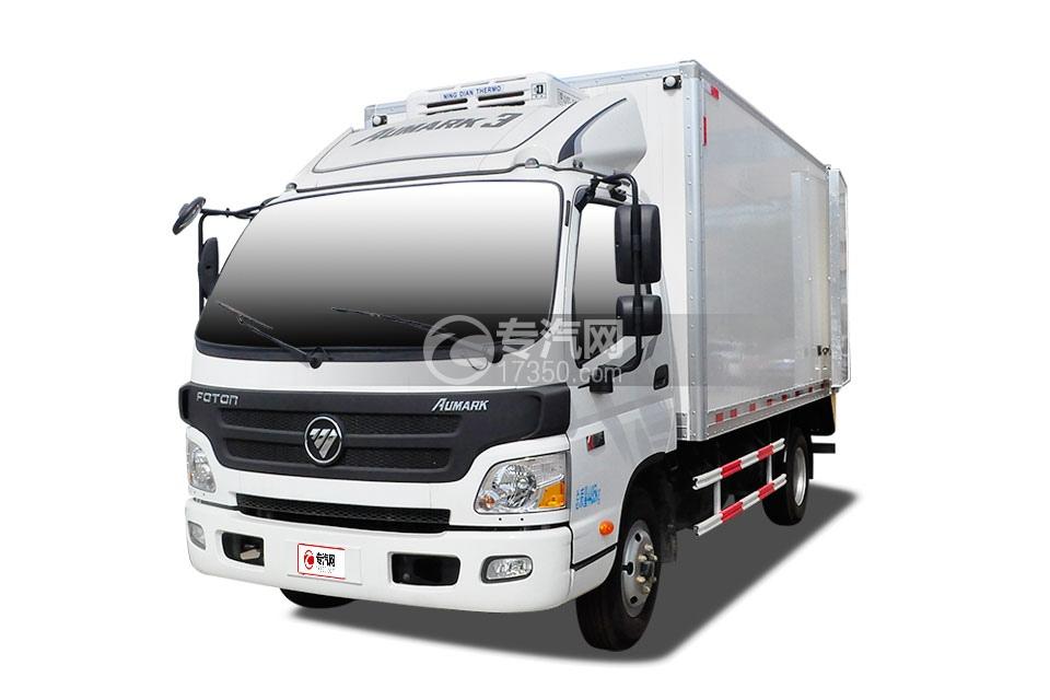福田欧马可国五冷藏车(肉钩车)