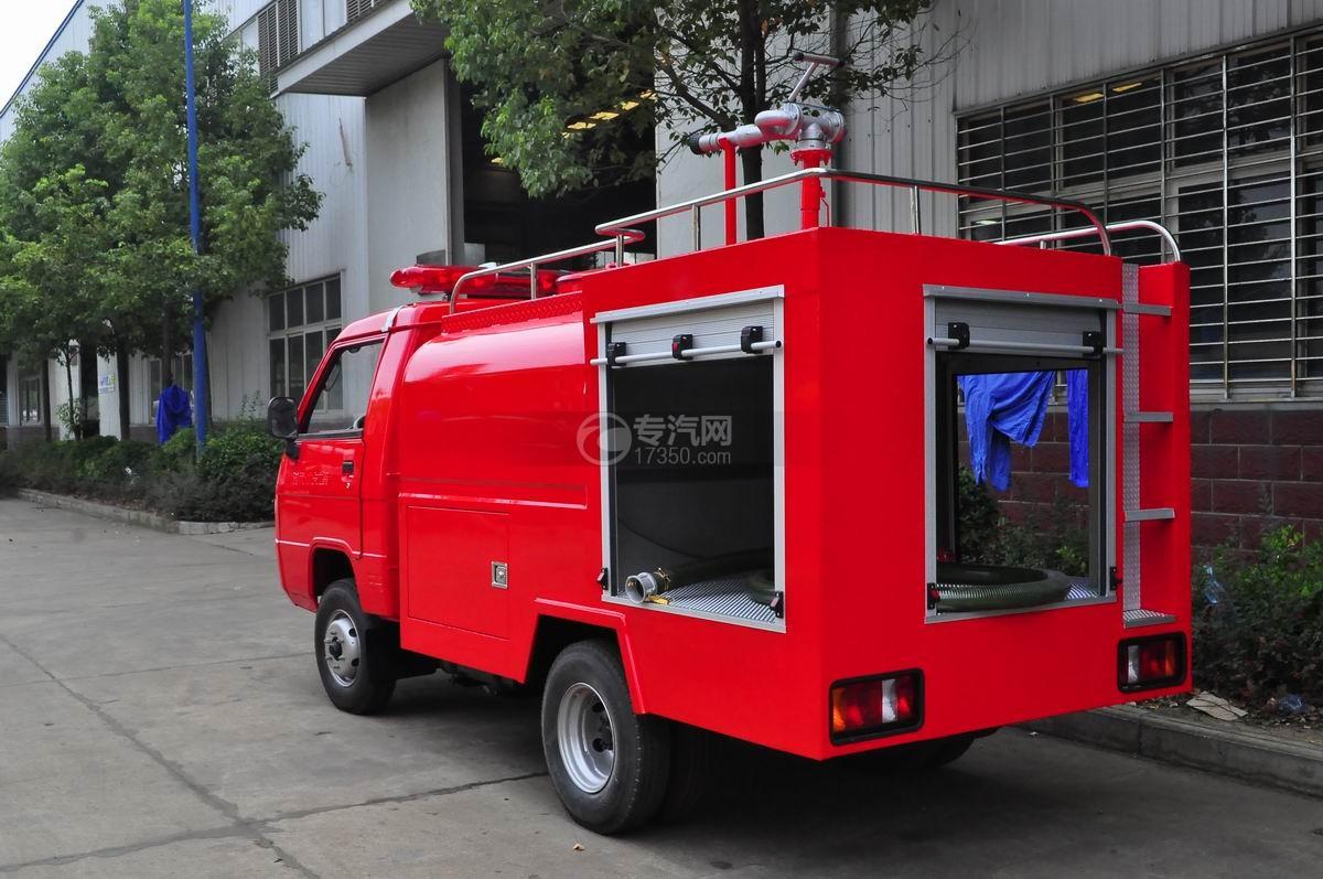福田时代水罐消防车左后45°图